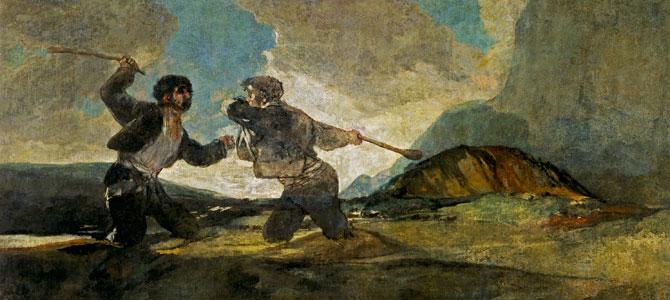 Duelo a garrotazos. Francisco de Goya. 193 años después.