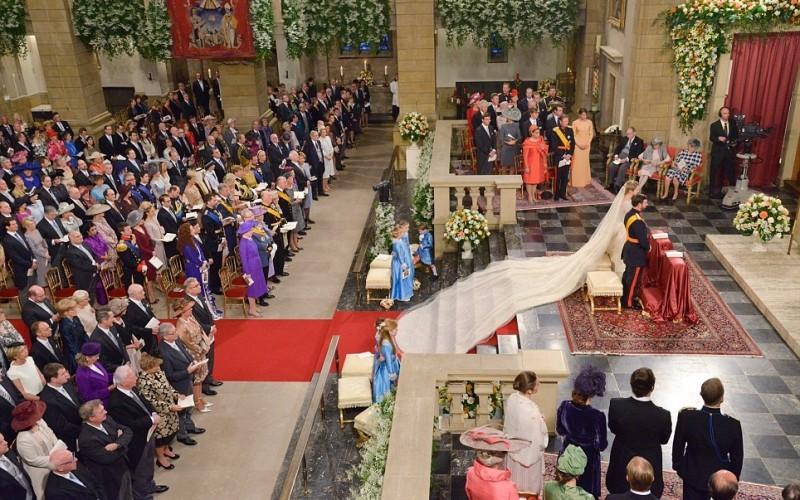 Banquete del príncipe Guillermo y Stèphanie de Lannoy