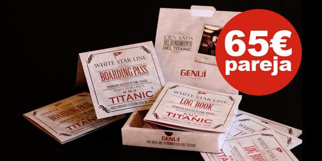 Regala la última cena del Titanic…